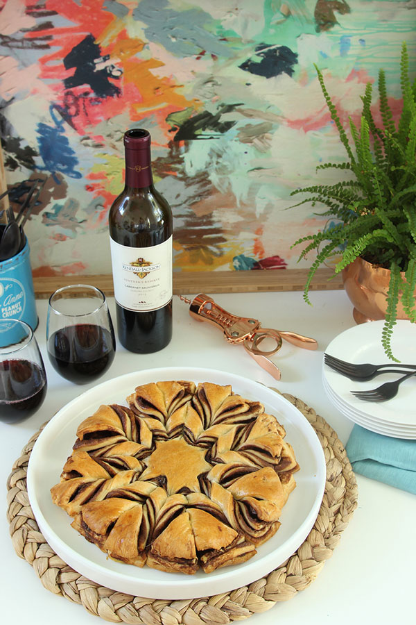 Serve this tasty layered chocolate tart dessert with Kendall-Jackson Vintner's Reserve Cabernet Sauvignon and enjoy!